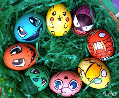 decorar huevos pascua pokemon