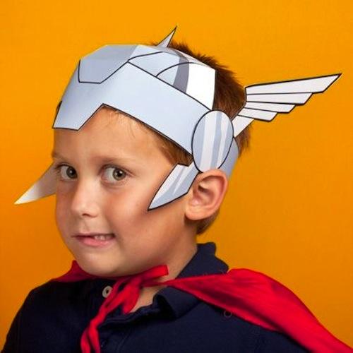 disfraz infantil casero thor casco