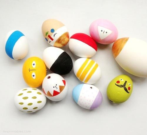 huevos de pascua decorado infantil