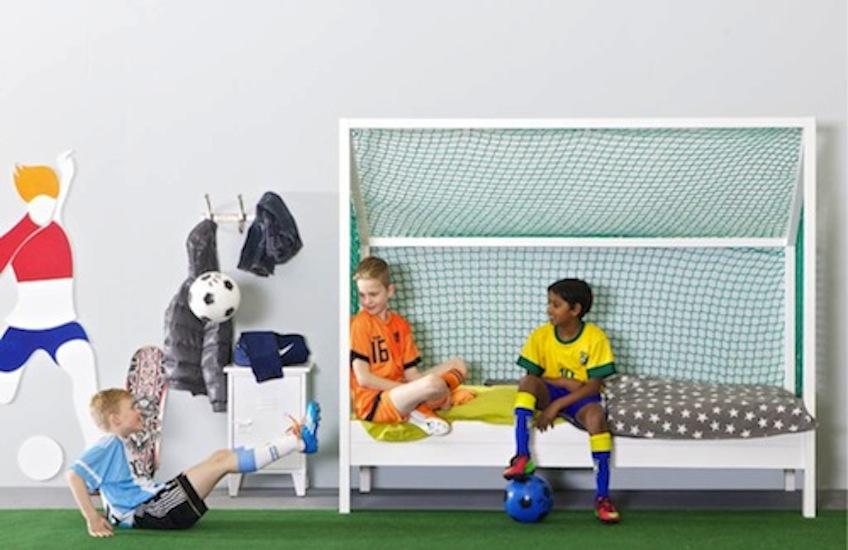 Original cama infantil para peques futbolistas