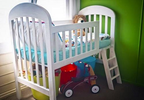 Reciclar cuna en cama infantil