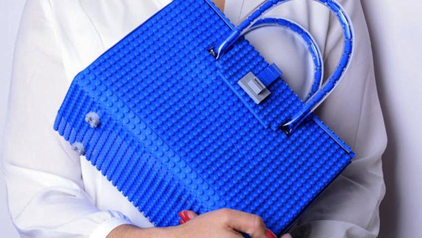 bolso hecho de lego