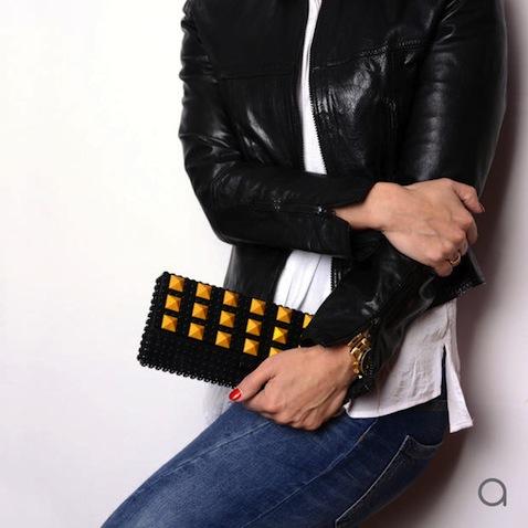 bolso lego bloques negros