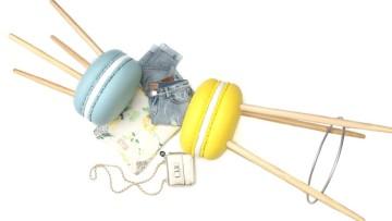 Divertidos taburetes de macaron para decorar habitaciones infantiles