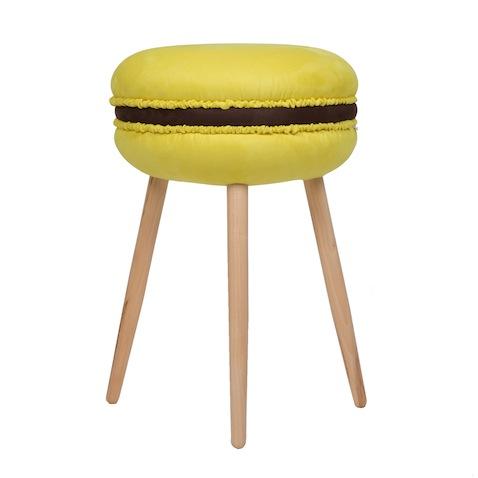 taburetes originales decoracion infantil modelo macarrons amarillo