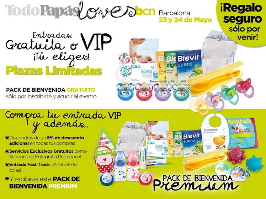 Packs de bienvenida TodoPapás Loves Barcelona