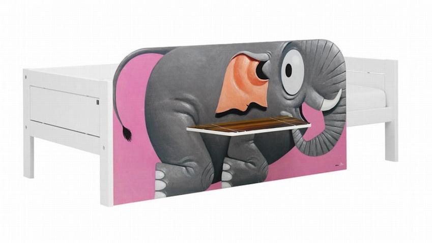 cama infantil blanca elefante circo