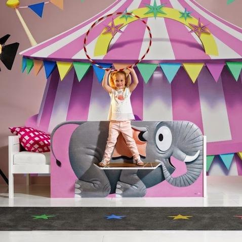 cama infantil elefante circo
