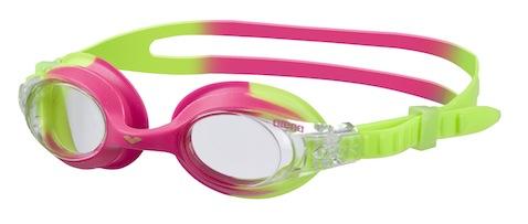 gafas de agua infantiles verdes con rosa
