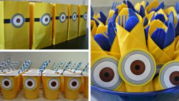 Decoración para fiesta de Minions – descargar e imprimir gratis