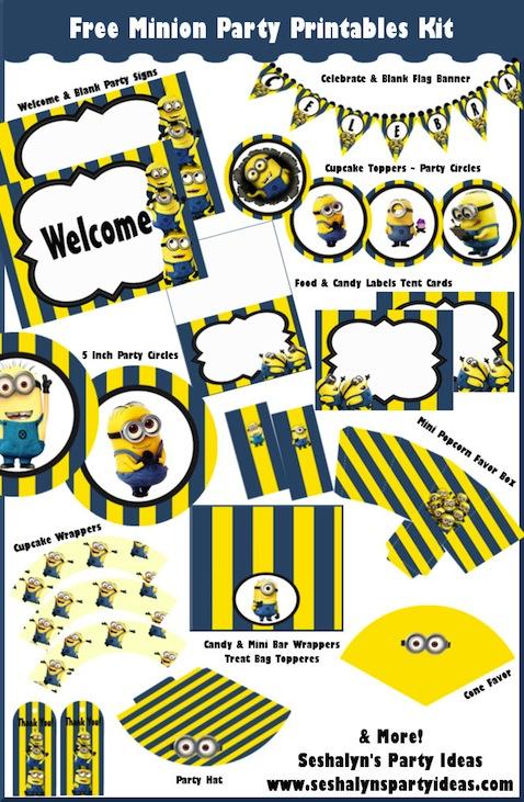 Kit de decoración para fiesta de Minions