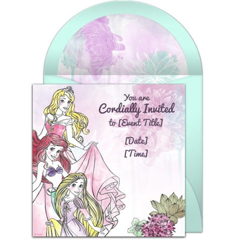 invitacion cumpleaños Disney Princess imprimir gratis