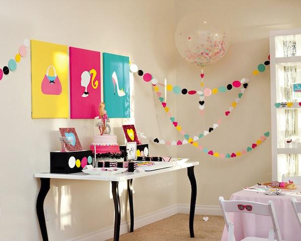 Decoración para celebrar cumpleaños de Barbie