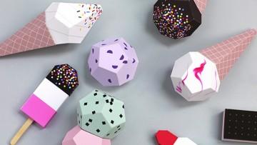 Decoración de helados para una fiesta de cumpleaños infantil