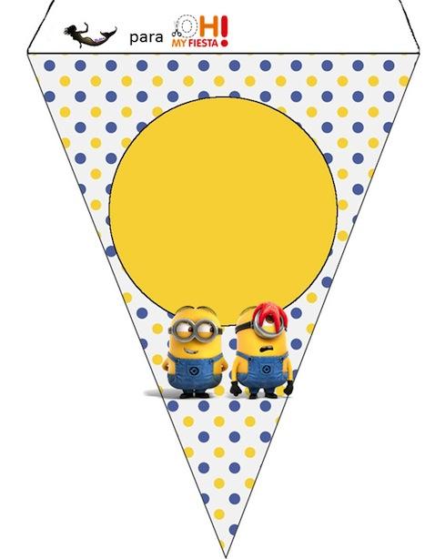Guirnalda de Minions para descorar fiesta de cumpleaños imprimir gratis