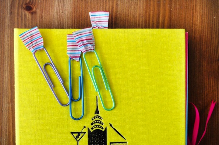 Clips decorados con washi tape