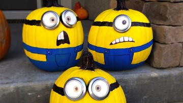 Idea para decorar calabazas de Minions
