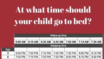 Horarios de sueño infantil por edades