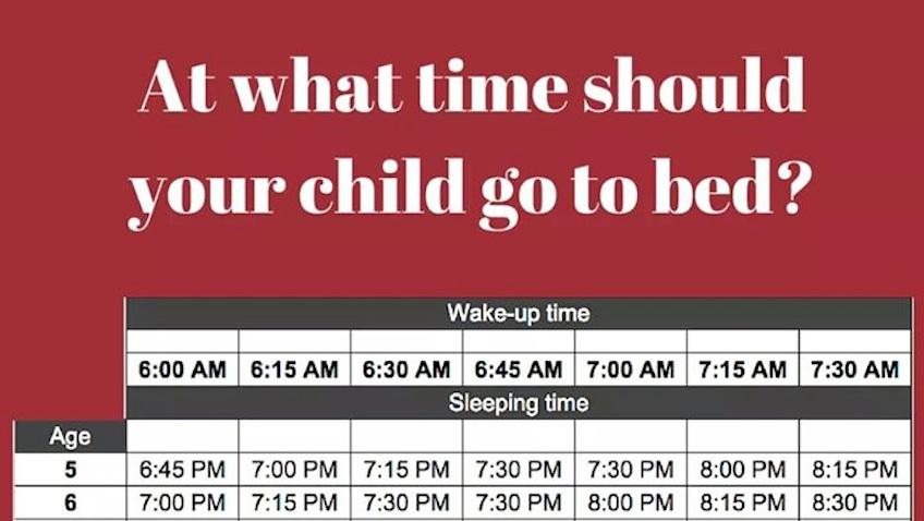tabla horario sueño infantil por edades