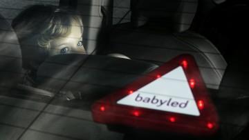 BabyLed, señal LED de bebé a bordo complemento de la silla de coche