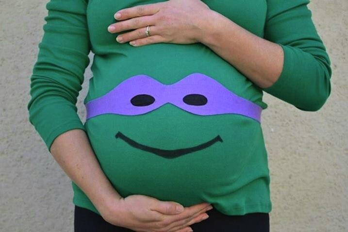 Disfraces halloween embarazadas casero tortuga ninja