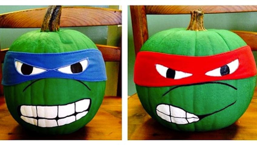 Calabazas decoradas para Halloween de las Tortugas Ninja