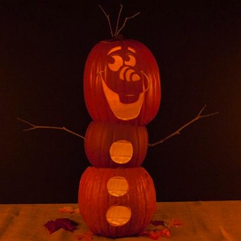 Calabazas decoradas de Olaf