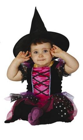 disfraz bebe 6 meses de brujita estrellas
