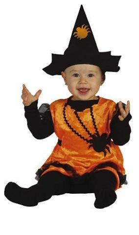 disfraz bebé halloween brujita araña