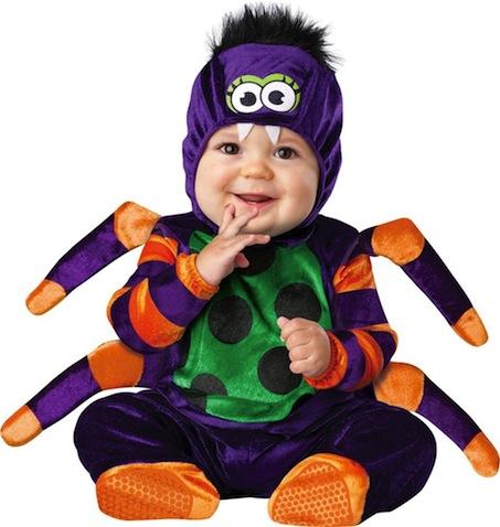 Disfraz de halloween para bebé de araña