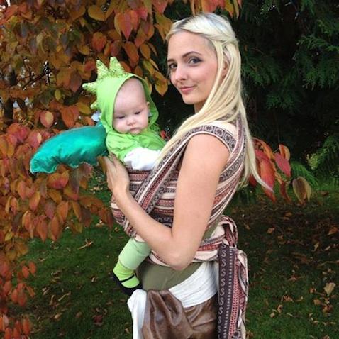 disfraz halloween para bebe mama juego de tronos