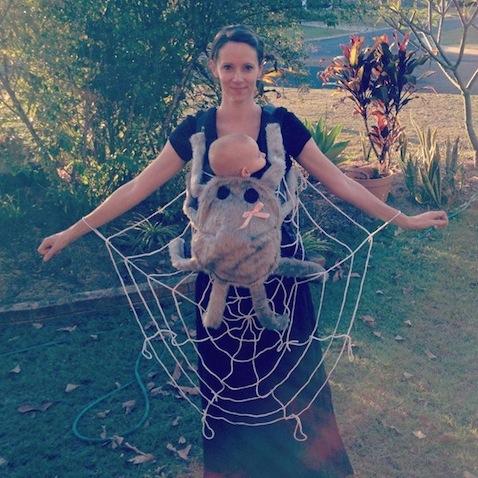 disfraz halloween para bebe mama telarana