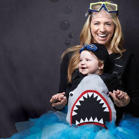 Disfraz de tiburón para bebé
