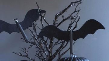 Manualidad infantil para Halloween para decorar calabazas