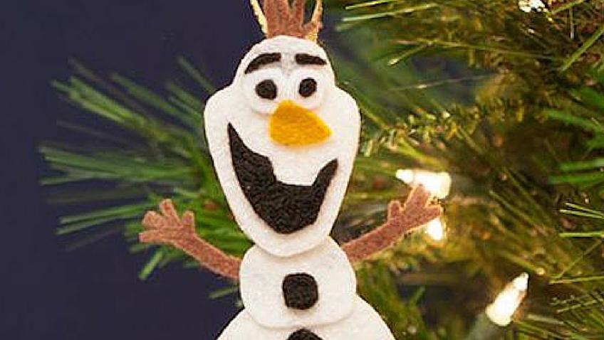 adornos navideños disney frozen olaf