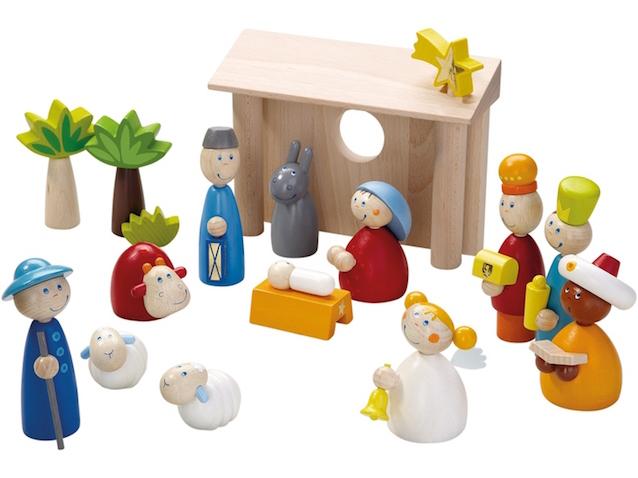 Pesebre infantil de madera Haba