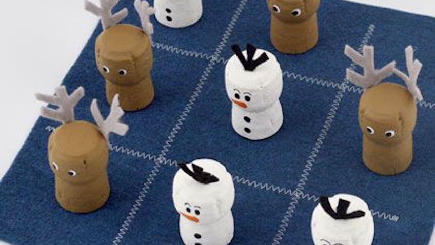 juego cruz y raya frozen casero