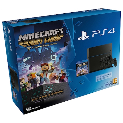 Playstation 4 500Gb + Dualshock 4 + Juego Minecraft: Story Mode