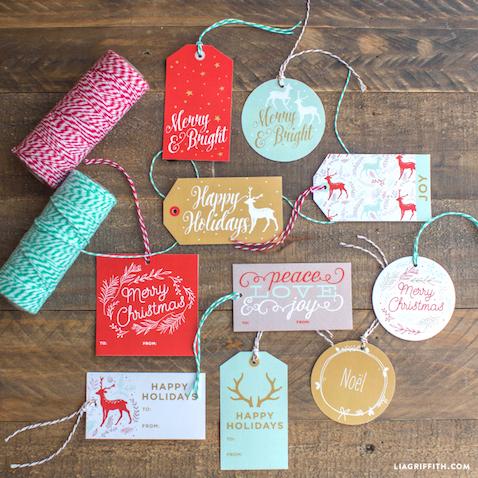 etiquetas regalos navidad descargar