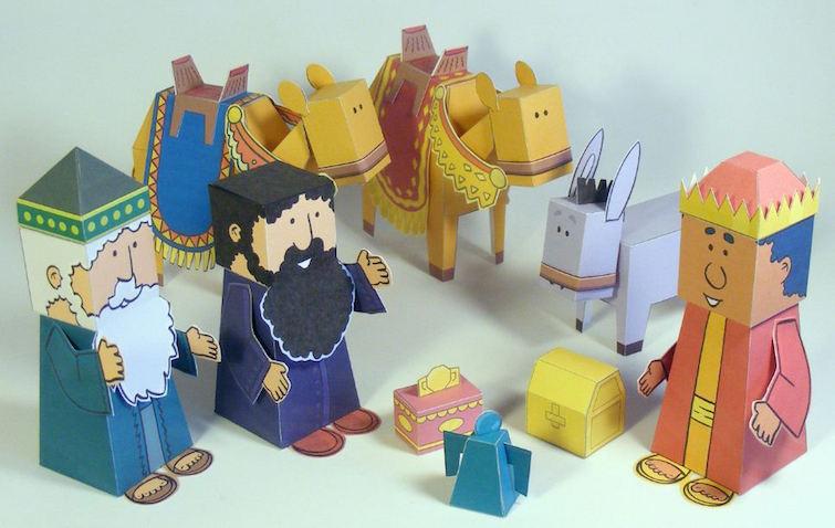 Manualidad para niños de los Reyes Magos
