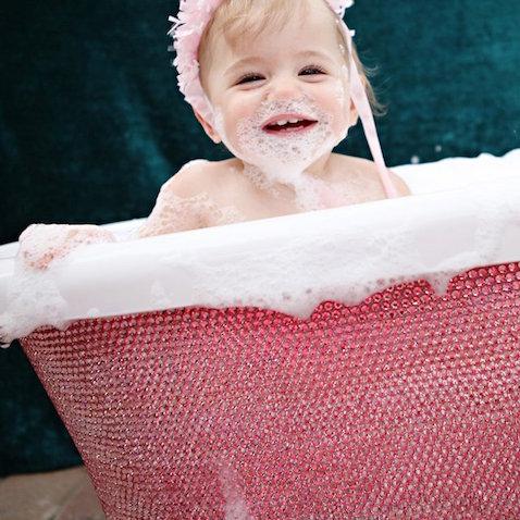 Bañera para bebés con cristales de Swarovski