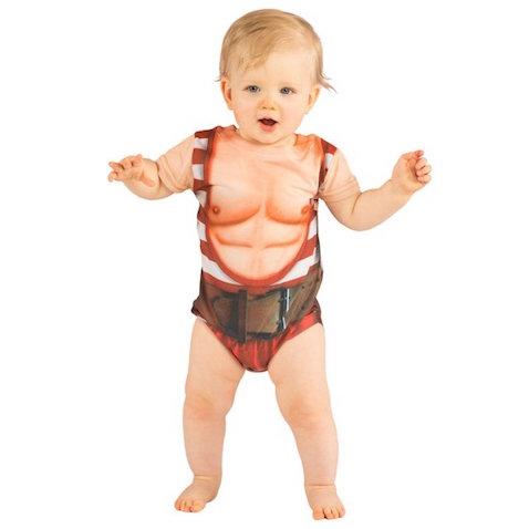 Body para bebé con músculos