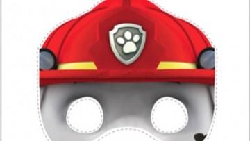 3 máscaras que puedes imprimir para hacer un disfraz casero de la Patrulla Canina