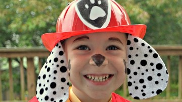 Haz un disfraz infantil casero de Marshall de la Patrulla Canina
