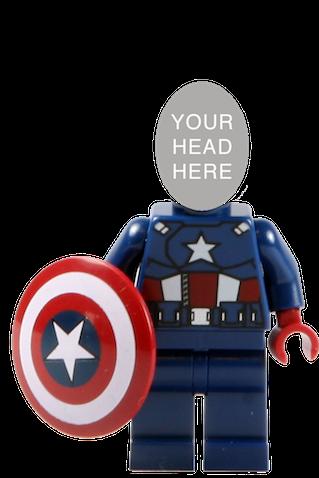 minifigura lego capitan america personalizable