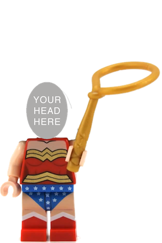 minifigura lego mujer maravilla personalizable