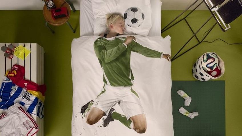 edredon futbol para decorar habitación infantil