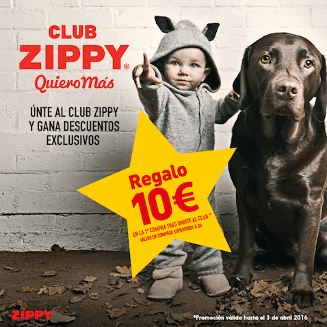 Club zippy regalo 10€