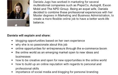 Madre bloguera charla