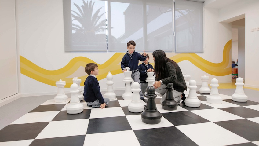 Tablero de ajedrez gigante